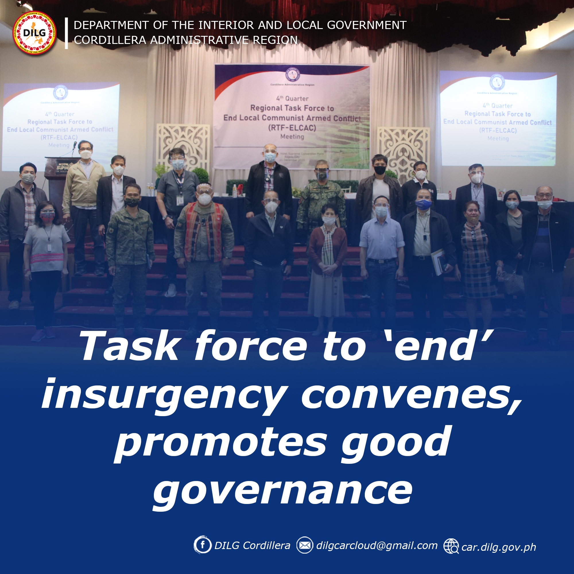 Task force to 'end' insurgency convenes, promotes good governance