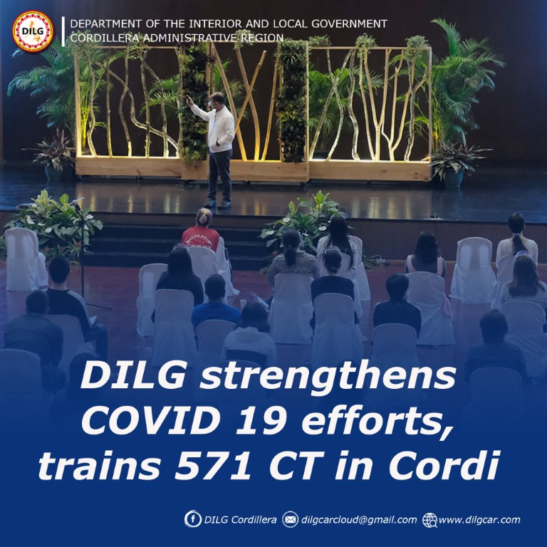 DILG strengthens COVID 19 efforts, trains 571 CT in Cordi
