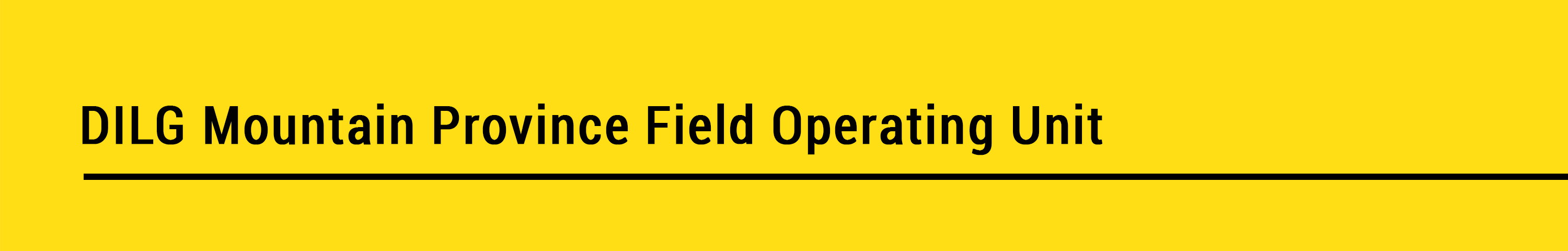 Mountain Province Field Operating Unit banner